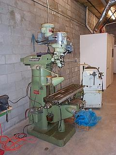 Our workshop has a milling machine, band saw, welder